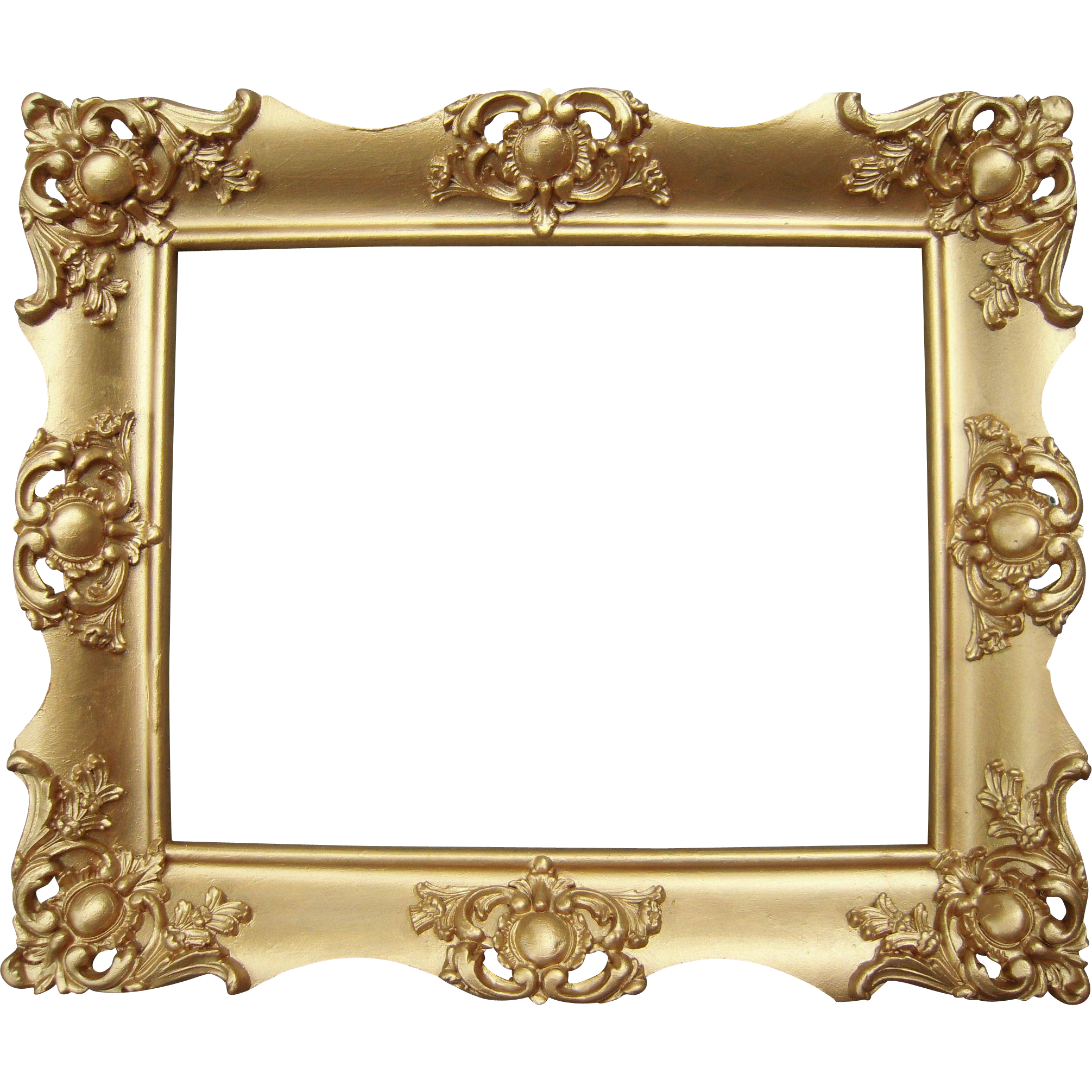 Starfish clipart ornate. Gold victorian picture frame