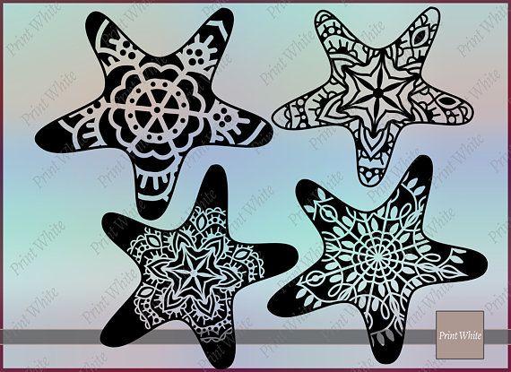 Pin on nautical . Starfish clipart ornate