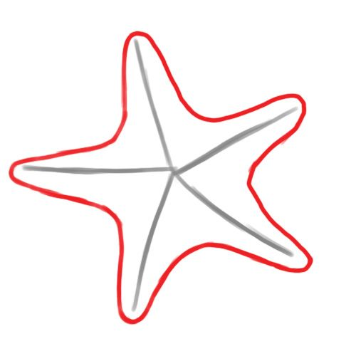 Draw a hey i. Starfish clipart simple