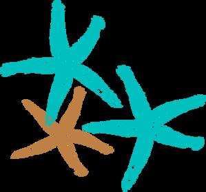 Starfish clipart three. Prints clip art