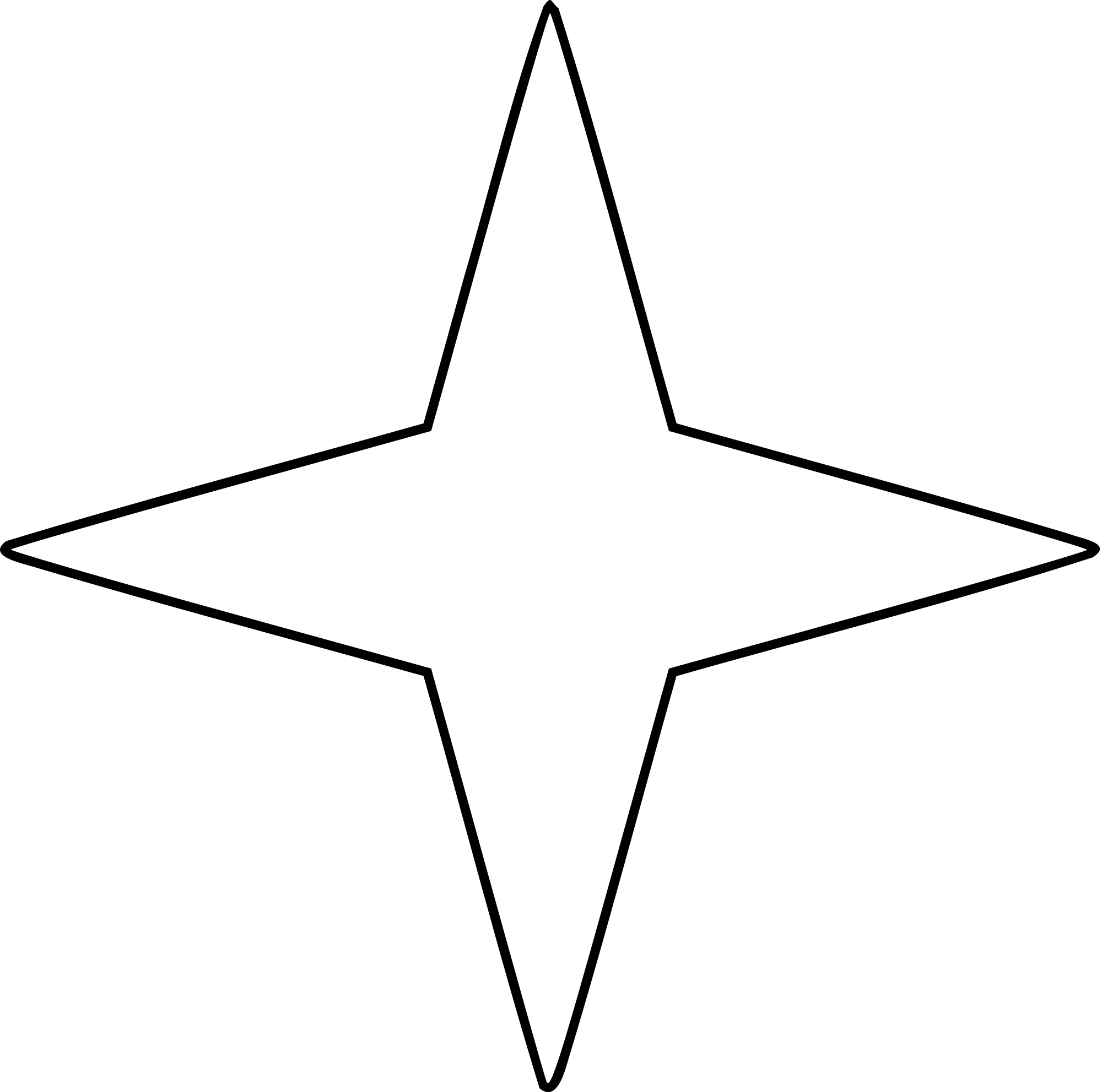 File four points star. Stars vector png