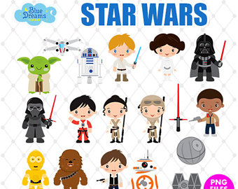 Starwars clipart. Star wars etsy bundle