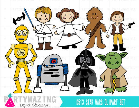 Star Wars Clipart, Space Wars Digital Clipart, Starwars Clip Art ...