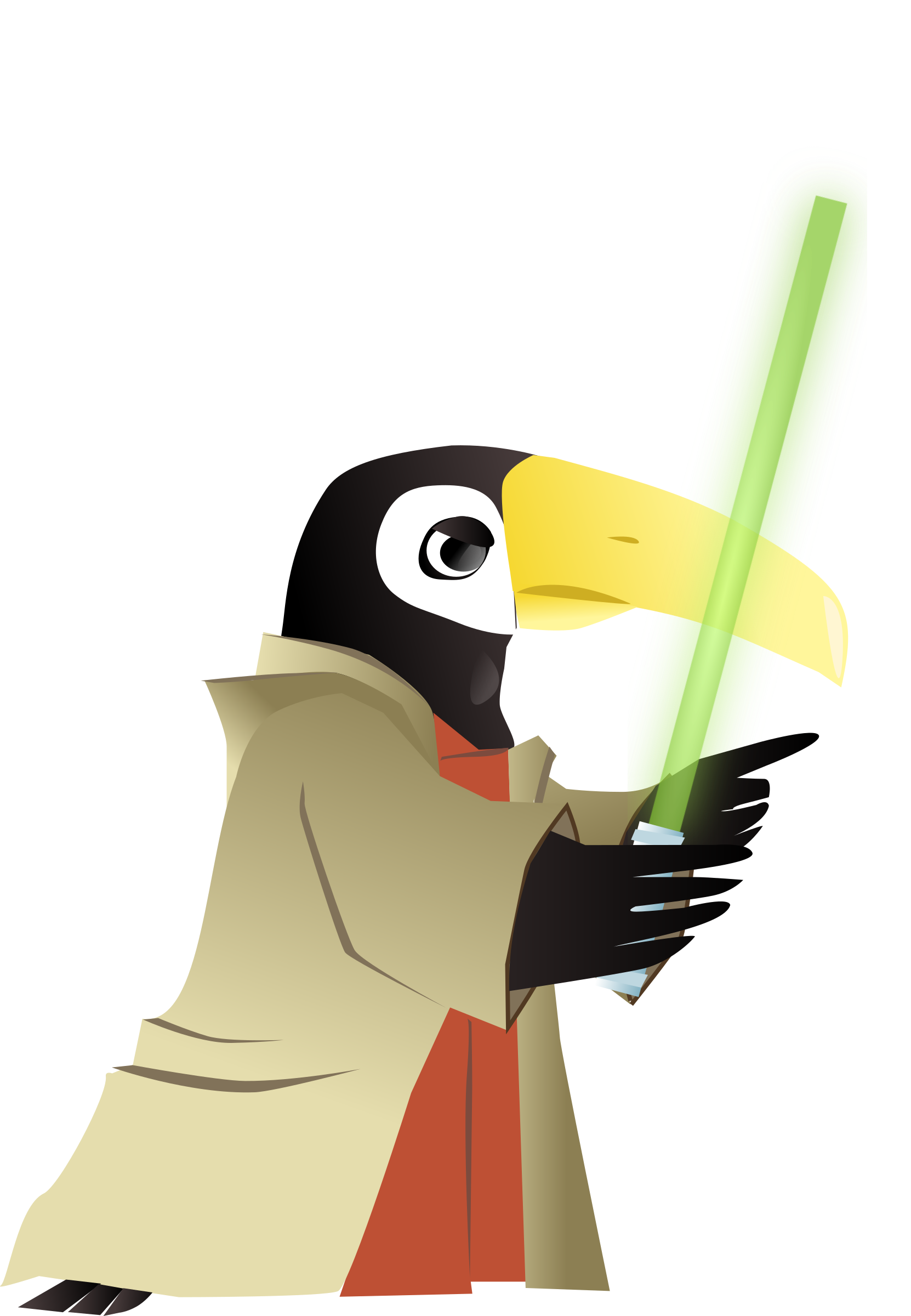 Toucan jedi master big. Starwars clipart animated