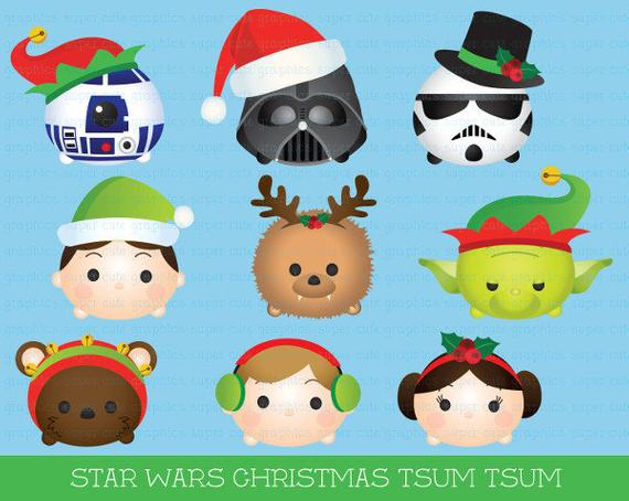 Tsum star wars party. Starwars clipart christmas