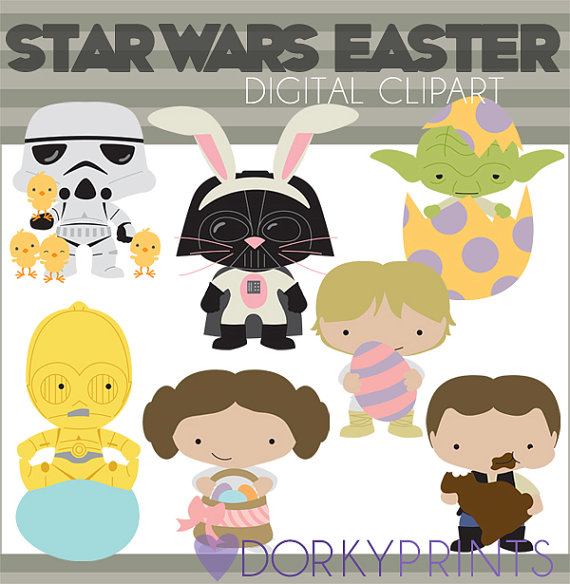 Star heroes set personal. Starwars clipart easter