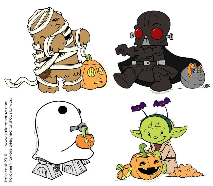 Starwars clipart halloween. Star wars iron ons
