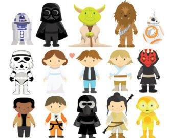 Starwars clipart kids. Yoda etsy