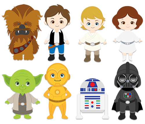 Wall stickers for star. Starwars clipart kids