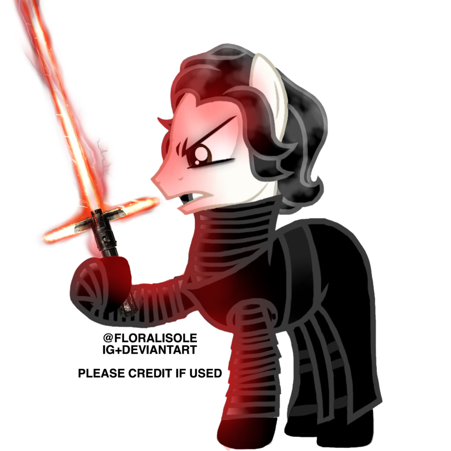 Pony by floralisole on. Starwars clipart kylo ren