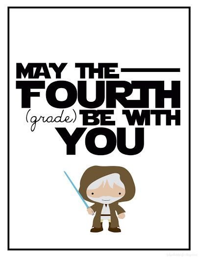 Grade printable . Starwars clipart may the fourth be with you