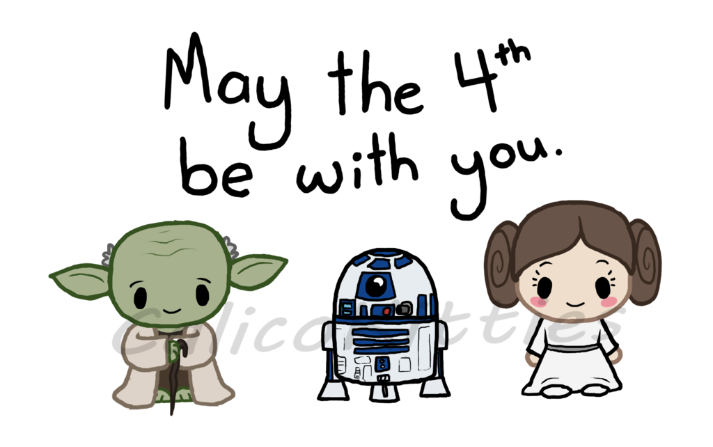 Th by calicokitties on. Starwars clipart may the fourth be with you