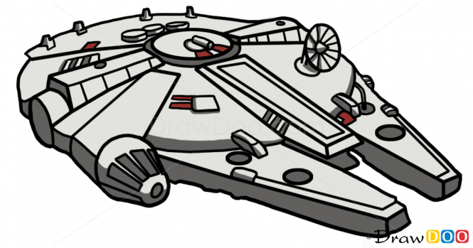 Starwars clipart millennium falcon. How to draw star