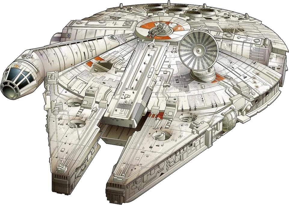 Han solo star wars. Starwars clipart millennium falcon
