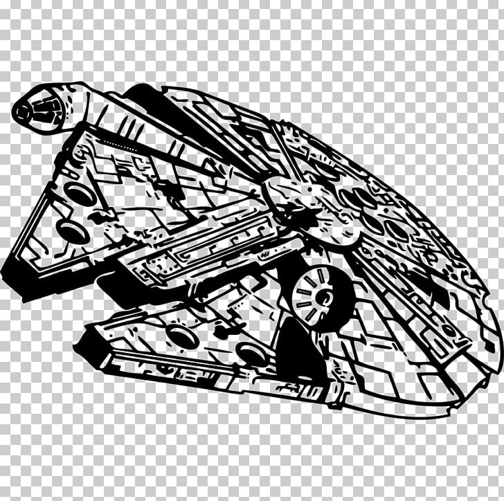 Star wars stencil png. Starwars clipart millennium falcon