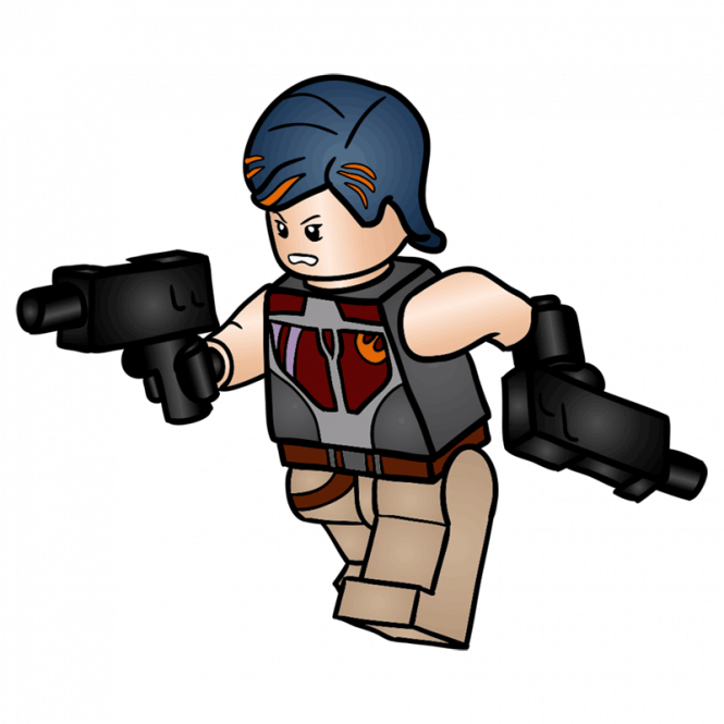 Starwars clipart person lego. How to draw sabine