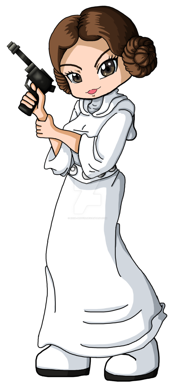 Bookmark by rena muffin. Starwars clipart princess leia
