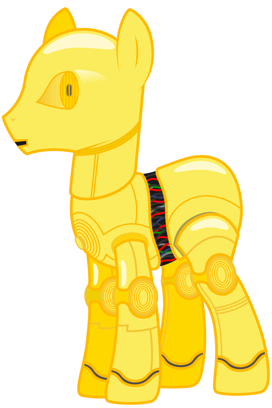 Image my little pony. Starwars clipart r2d2 c3po