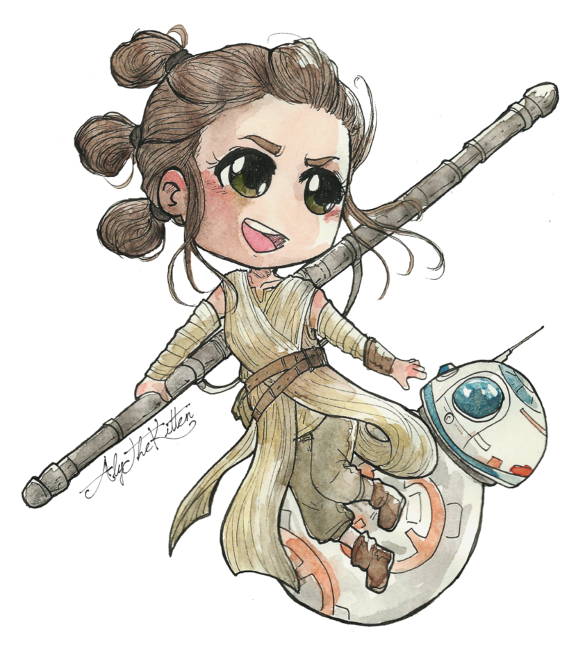 And bb by alythekitten. Starwars clipart rey