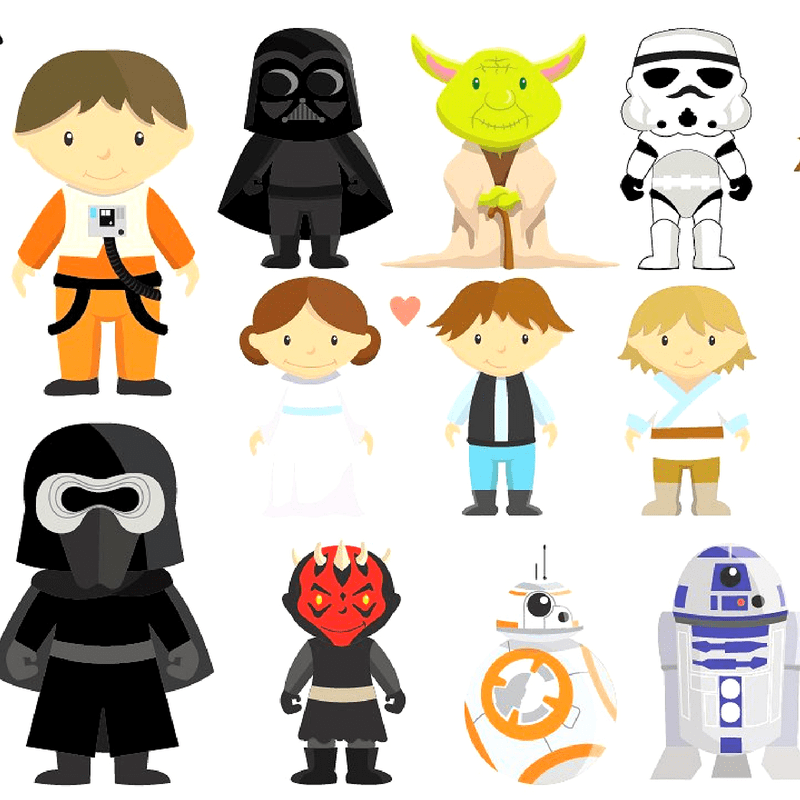 Characters sets gifts . Starwars clipart star wars