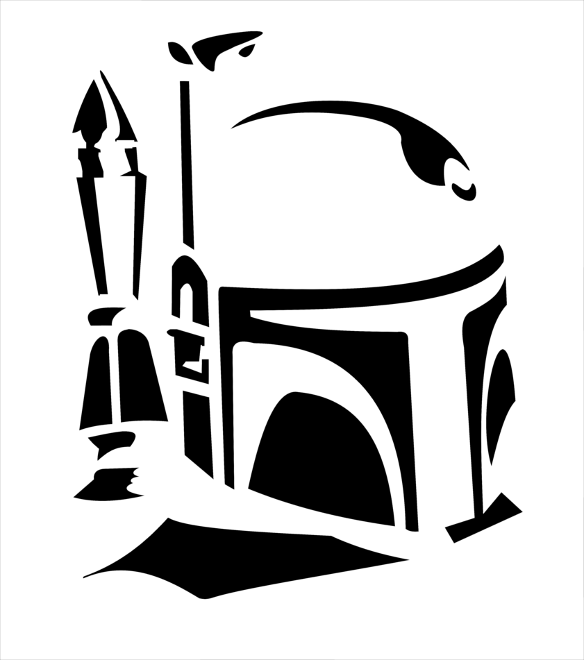 Starwars clipart stencil.  amazing cool silhouette