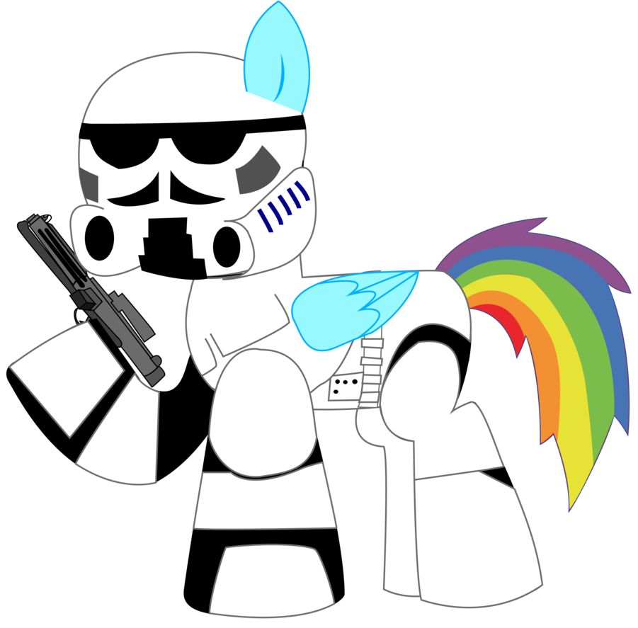 Starwars clipart stormtrooper. Rainbow dash as a