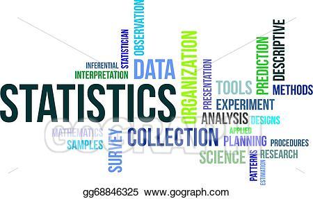 Vector illustration word cloud. Statistics clipart