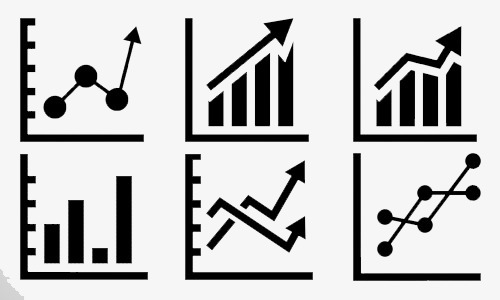 Statistics clipart. Mathematical icon chart png