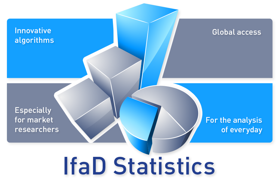 Statistics clipart data presentation. Software for sciences ifad