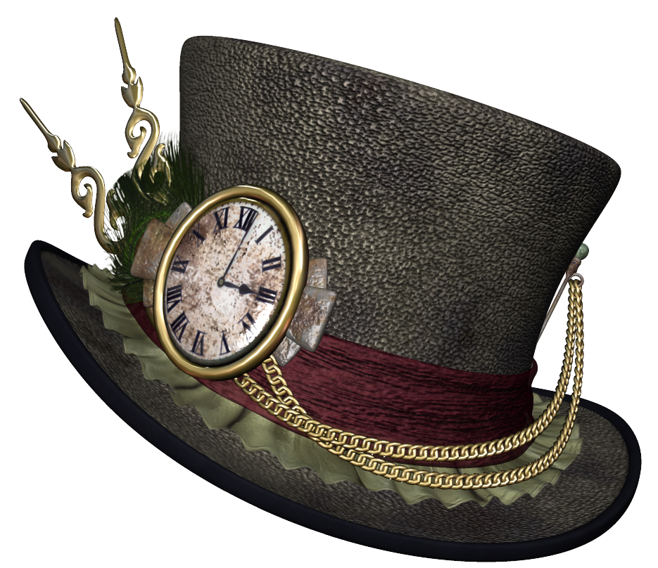Hat png picture gallery. Steampunk clipart