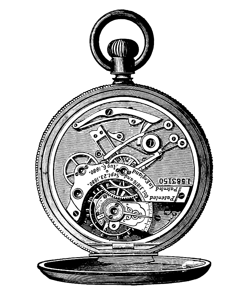 Clip art watch gears. Steampunk clipart