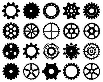 Steampunk clipart. Etsy cogs vector clip