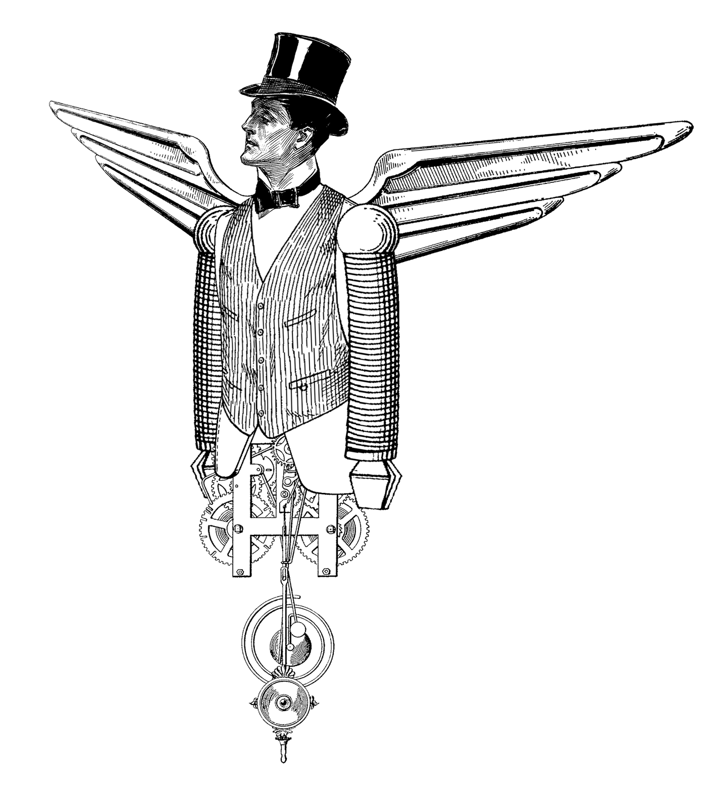 The sum of all. Steampunk clipart airline wing