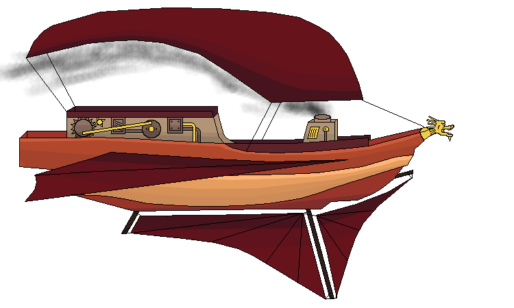 Steampunk clipart airline wing. Wip lighter than air