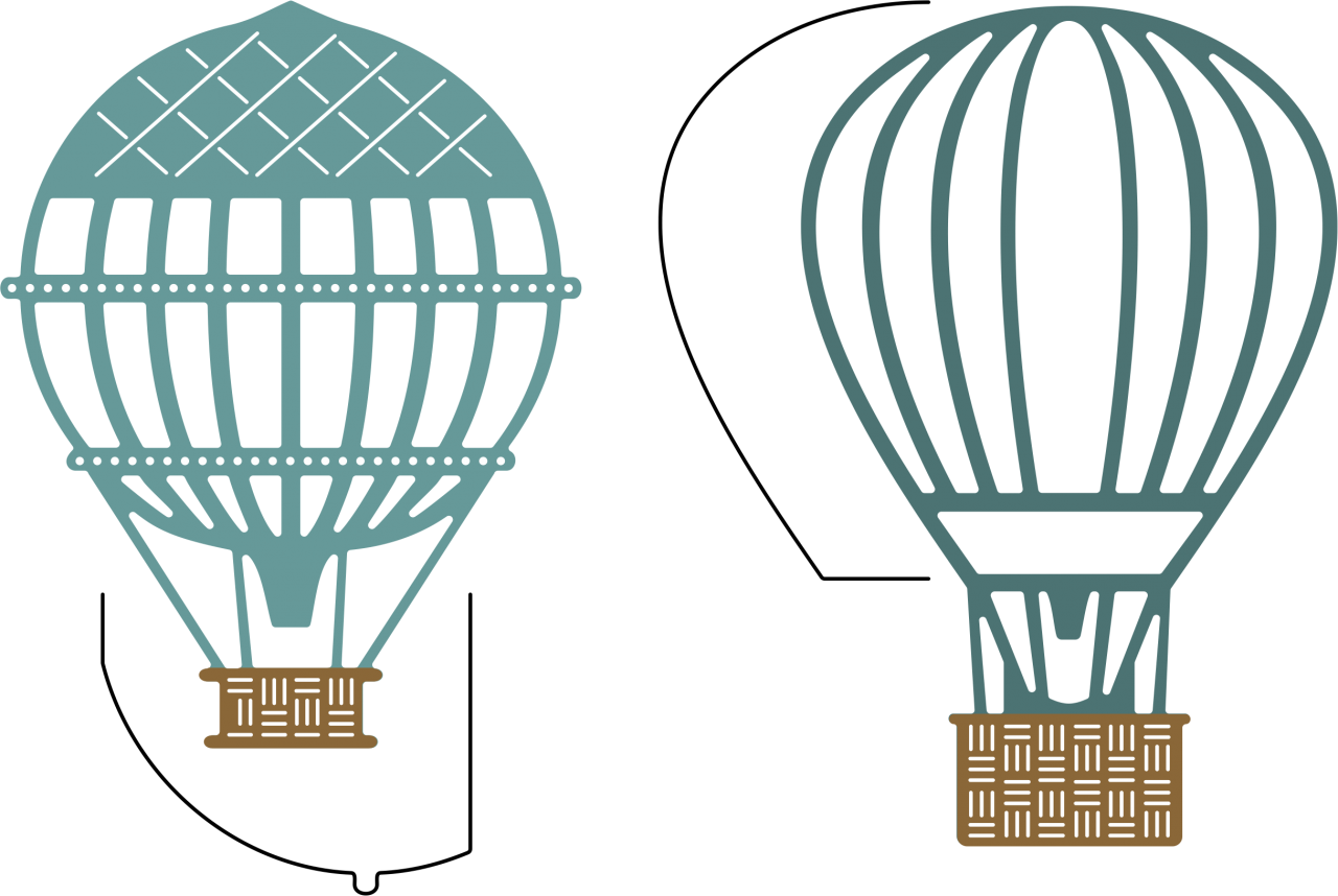 Steampunk clipart airline wing. Hot air balloons w