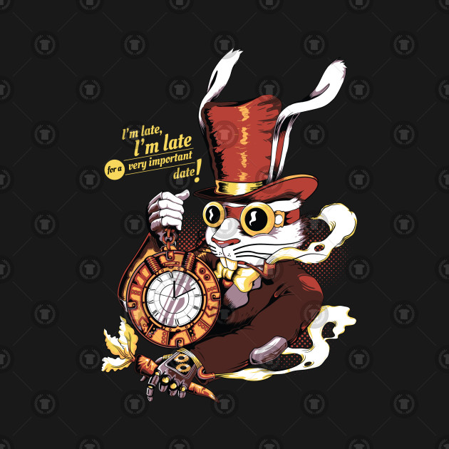 The white rabbit . Steampunk clipart alice in wonderland