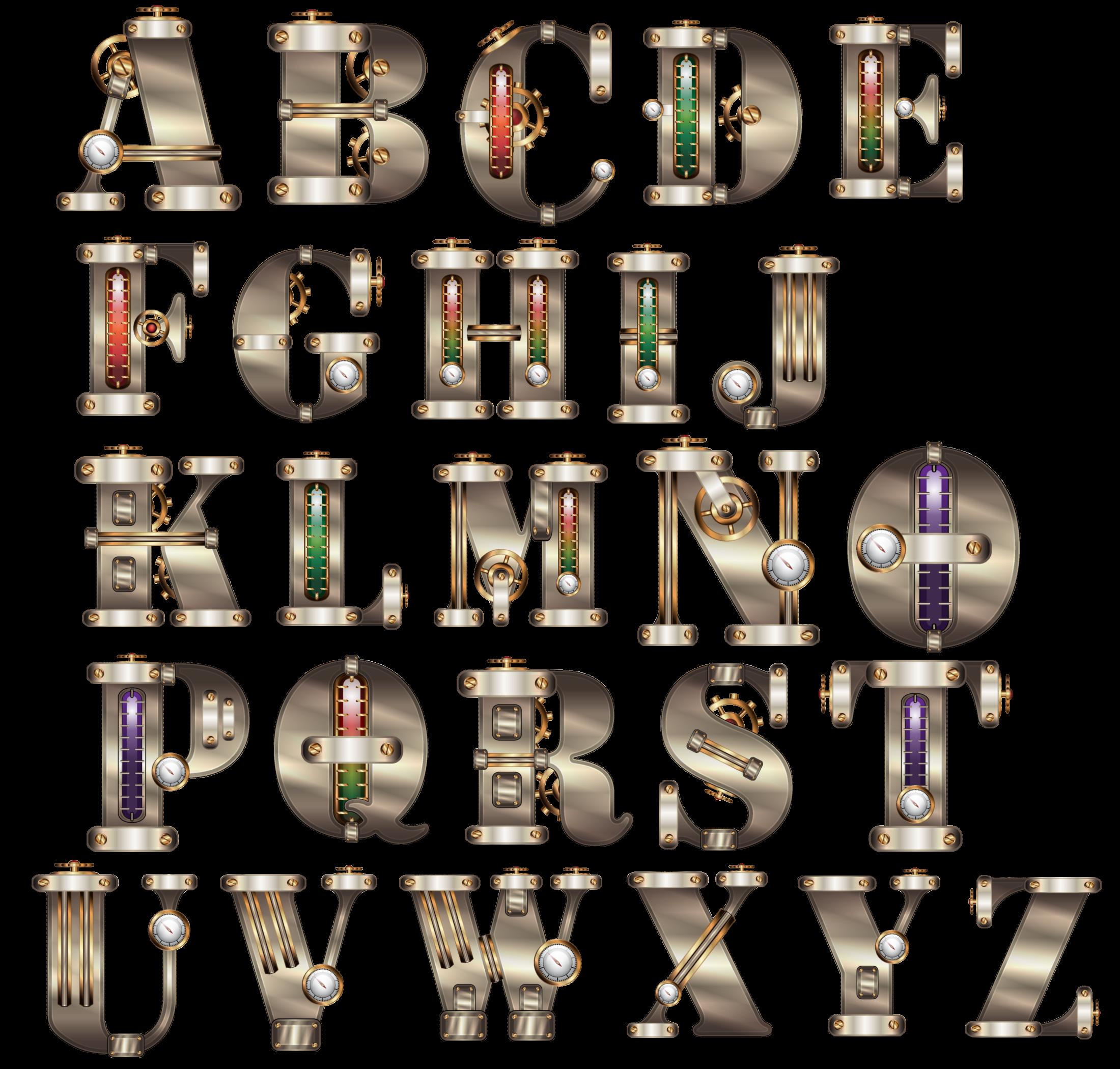 Steampunk clipart alphabet. Gimp chat phf file