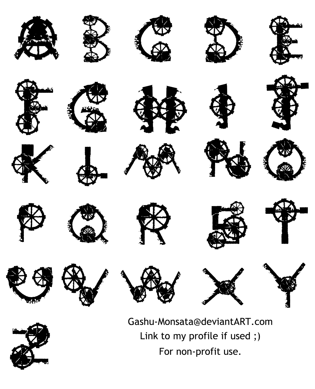 Steampunk clipart alphabet. Free cliparts letters download