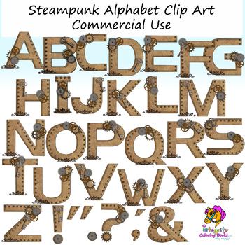 Steampunk clipart alphabet. Clip art letters
