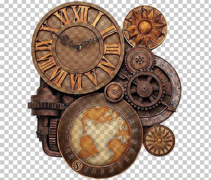Steampunk clipart antique clock. Fashion gear png art