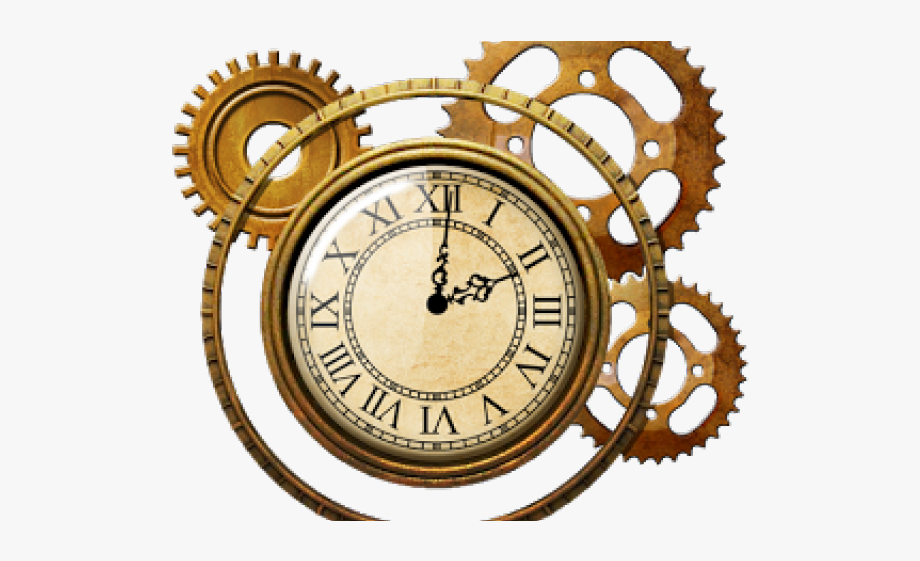 Steampunk clipart antique clock. Watch