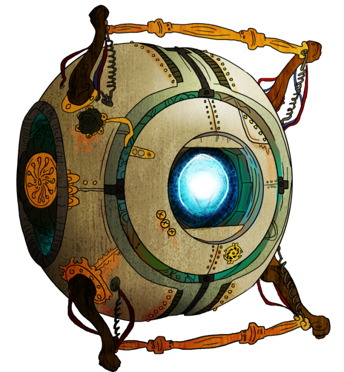 epic art wheatley. Steampunk clipart architecture