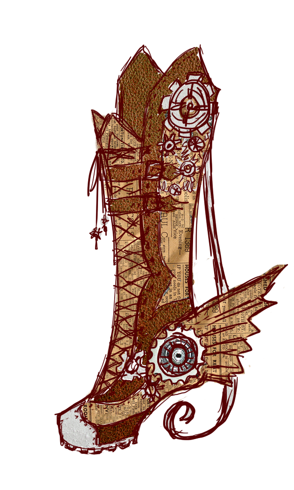 Jing wei witch huntress. Steampunk clipart aviator wing