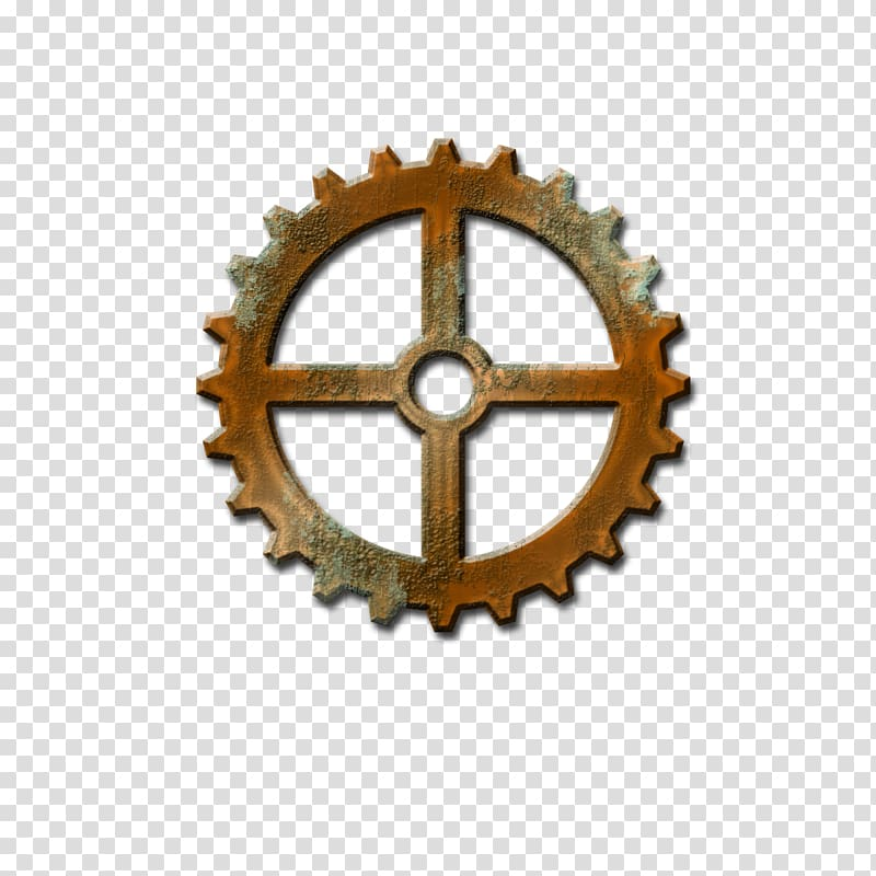 Steampunk clipart background. Gear transparent png