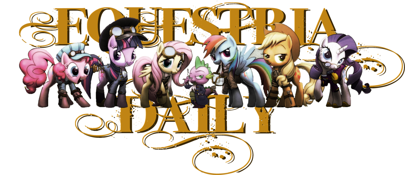 Steampunk clipart banner. Eqd by bronyneightoz on