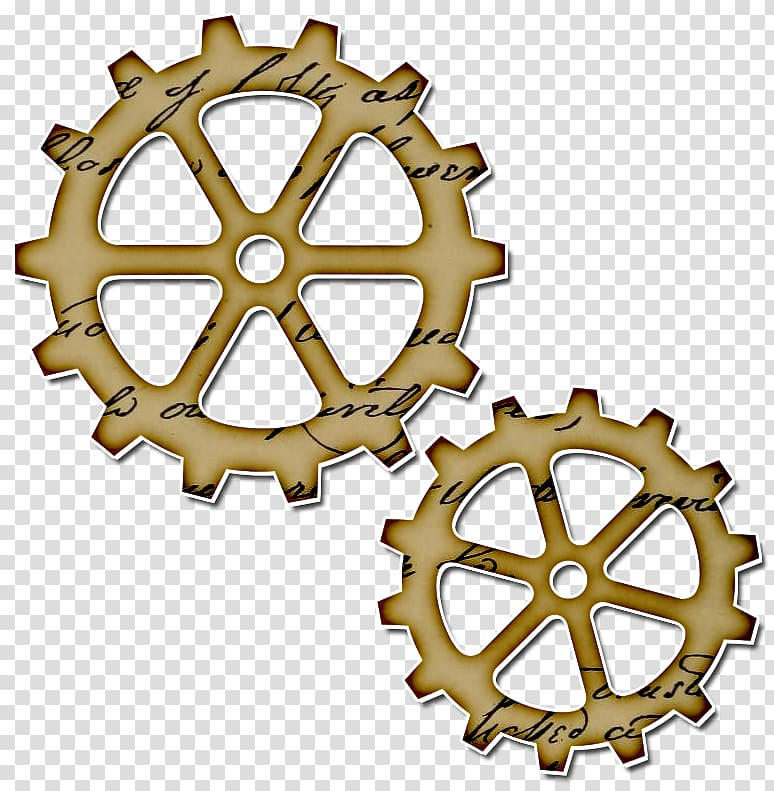 Steampunk clipart bicycle gear. Transparent background png