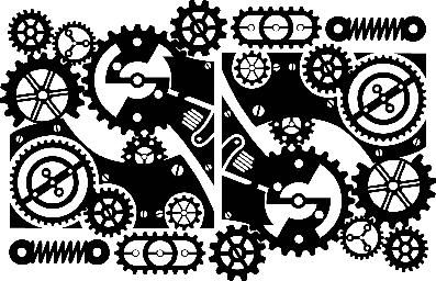 Steampunk clipart bicycle gear. Stencil google search gears