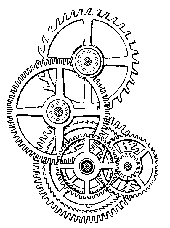 Visit me at gears. Steampunk clipart bike gear