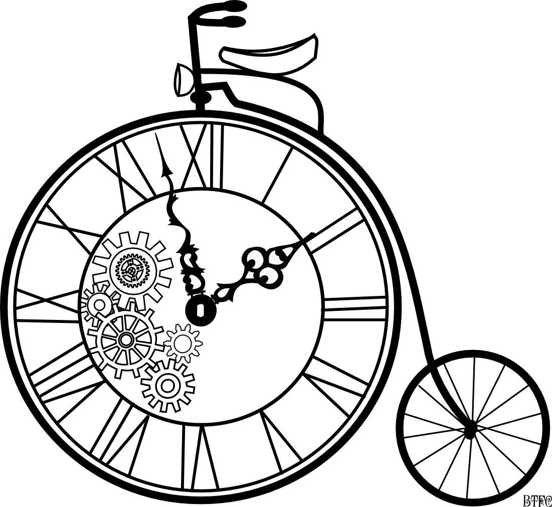 Steampunk clipart black and white. Cycle art inspirations pinterest