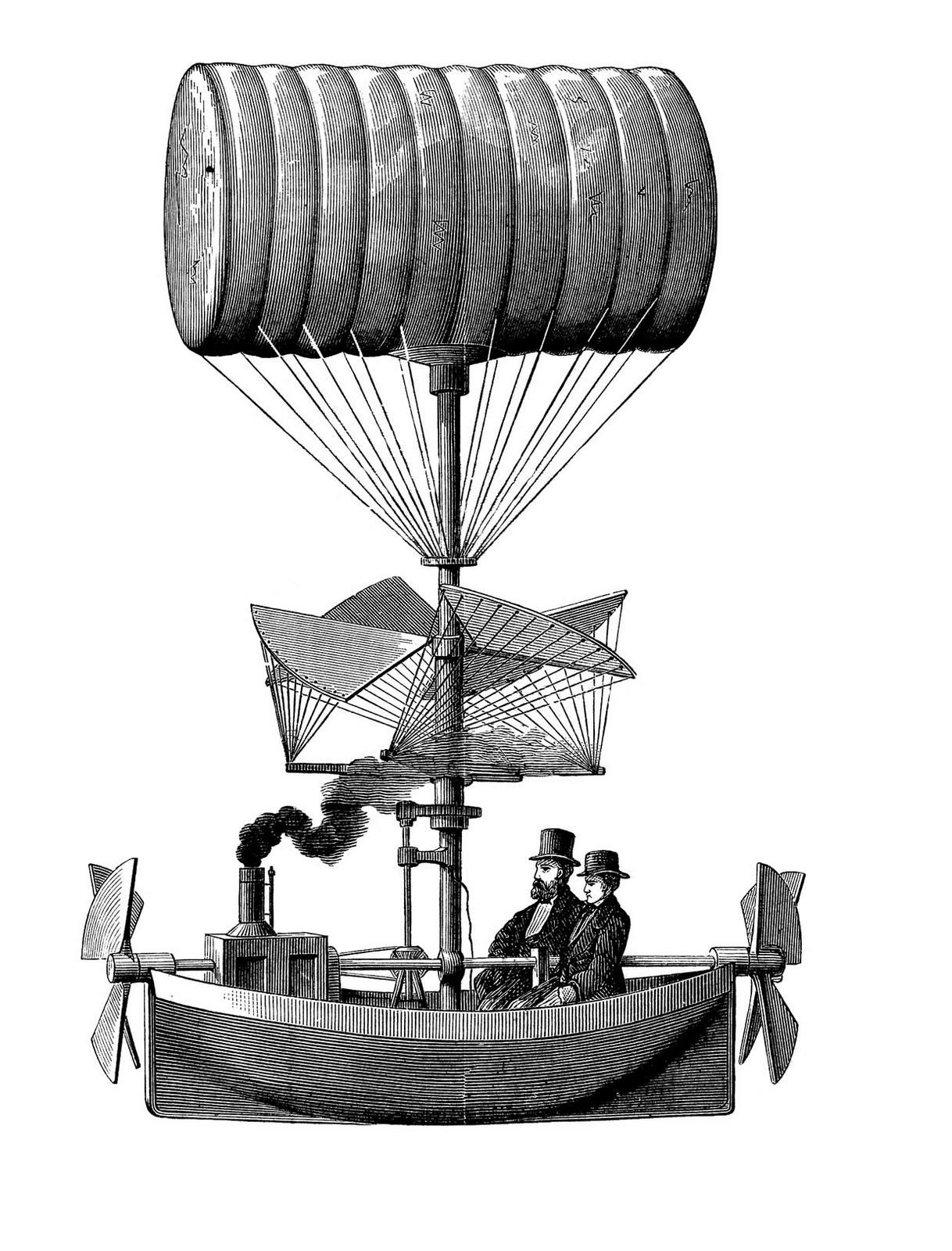 Steampunk clipart blimp. Airship clip art library